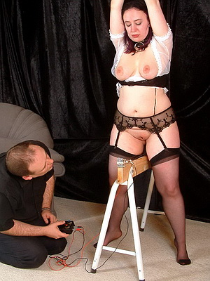 hot electro fetish session for slave girl nimue